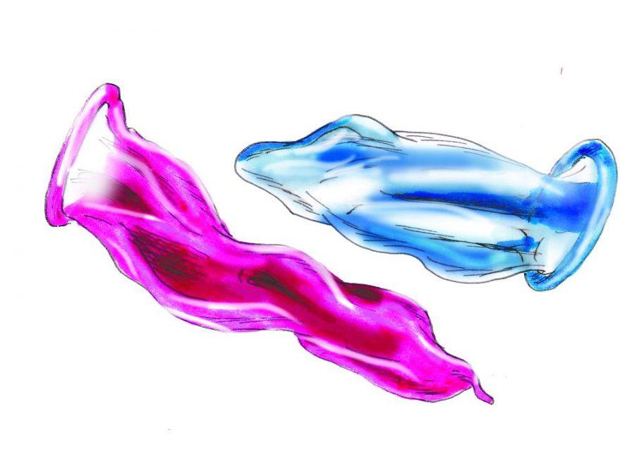Fem mannlige studenter på Blindern om kondombruk