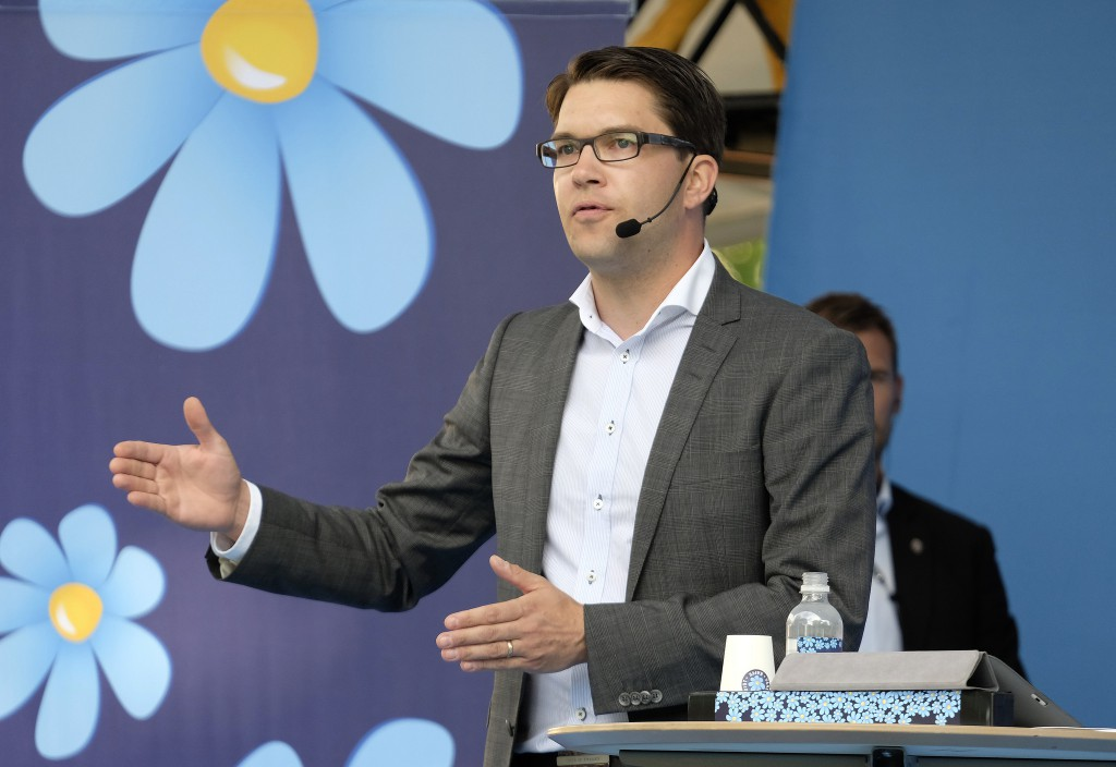 Partileder i Sverigedemokraterna, Jimmy Åkesson. Foto: News Øresund/flickr creative commons